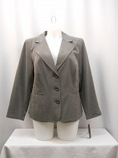 Buy Womens Suit Jacket Blazer AGB PLUS SIZE 14W Collared Long Sleeves Lined Solid