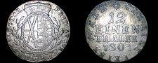 Buy 1801-IEC German States Saxony-Albertine 1/12 Thaler World Silver Coin