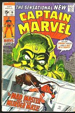Buy Captain Marvel #19 G+ Thomas Kane Adkins GUARDIANS OF THE GALAXY 1976 COSMIC
