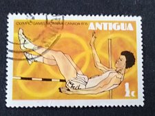 Buy Antigua and Barbuda stamp 1v used 1976 High Jump Summer Olympics 1976, Montreal