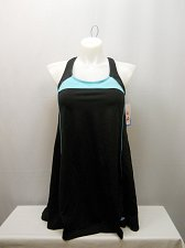 Buy PLUS SIZE 24 Women 1PC Swimdress AQUABELLE Mint Border X-Back Chlorine Resistant