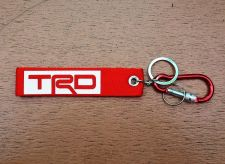 Buy 1 Embroidered Fabric Screen TRD Keychain Keyring Key Holder Tag Motorcycle 02