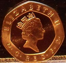Buy Gem Cameo Great Britain Proof 1996 20 Pence~Crowned Rose~Free Shipping