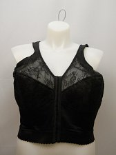 Buy Women BRA 50C Longline Posture Bra Full Coverage Solid Black Front Closure