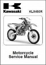 Buy 08-10 Kawasaki KLX450R Service Repair Workshop Manual CD - KLX 450 R 450R KLX450