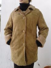 Buy Cristiano Di Thiene Leather Jacket Lined Coat Brown Suede Womens Size 16 GB
