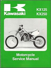 Buy 1992-1993 Kawasaki KX125 / KX250 Service Repair Manual on a CD - KX 250 125