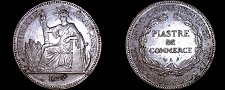 Buy 1897-A French Indo-China 1 Piastre World Silver Coin - Vietnam