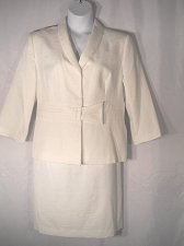 Buy Womens Skirt Set SIZE 18 2PC Jacket Skirt ISABELLA Solid White Evening Career