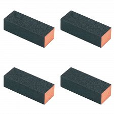 Buy 4 Pcs Black Rectangle 4 Way Buffer Sanding Block Nail File 4 GRADES !