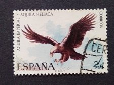 Buy Spain 1 v used stamp 1973 Endangered Eastern Imperial Eagle mi 2032