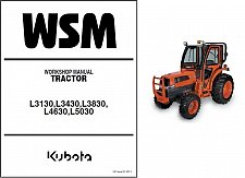 Buy Kubota L3130 L3430 L3830 L4630 L5030 Tractor WSM Service Manual on a CD