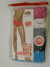 Buy SIZE 6-M Womens 5 Pack Boy Shorts Panties FRUIT OF THE LOOM Multi Color Assorted