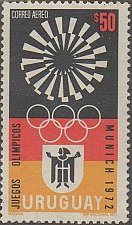 Buy uruguay1v mnh Stamp Mi1231 1972 Olympic Games Munich