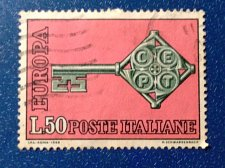 Buy Europa Italy 1968 Used Stamp key with the CEPT logo in handle