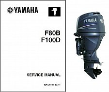 Buy Yamaha F80 / F100 4-Stroke Outboards Service Repair Manual CD - F80BET, F100DET