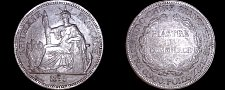 Buy 1895-A French Indo-China 1 Piastre World Silver Coin - Vietnam