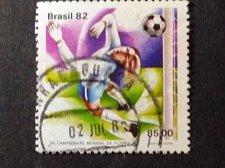 Buy Brazil Football 1982 stamp World Football championships World Football champion