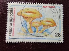 Buy Andorra Spanish 1993 1v used stamp Nature preservation Mi 231 Mushrooms