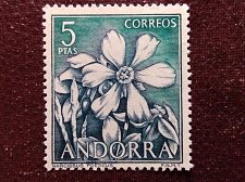 Buy Andorra Spanish 1966, Definitives, flowers 2v t narcissus poeticus, helleborus