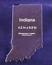 "Buy State of Indiana 4.2"" x 6.5"" ~ 1/4"" Quilt Template- Acrylic - Long Arm/ Sew"