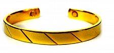 Buy ELECTRIFIED FEEL BETTER EJGT-029G Rhapsody Gold Plated Copper Bangle Bracelet