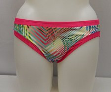 Buy SIZE XL Women Bikini Bottoms Pink Trim Tropical Print Cheeky Cut Fully Lined
