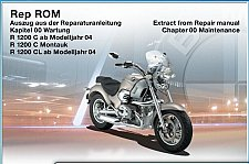 Buy 1997-05 BMW R1200C / Montauk RepROM Service Manual on a CD - Multilingual