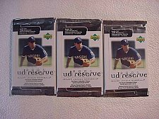 Buy 3 (three packs) new 2001 UPPER DECK ud reserve baseball PACK sealed