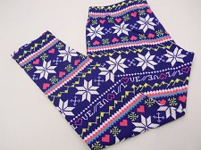 Buy Womens Ankle Leggings SIZE XL NO BOUNDARIES Fair Isle Print Skinny Leg Inseam 28