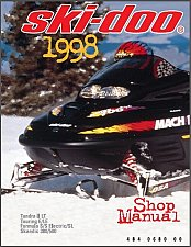 Buy 1998 Ski-Doo Tundra Touring Formula Scandic Snowmobiles Service Manual on a CD