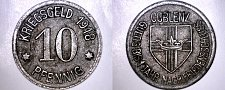 Buy 1918 German 10 Pfennig Kriegsgeld World Coin - Coblenz Germany Notgeld