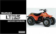 Buy 83-87 Suzuki LT125 QuadRunner Service Repair Manual CD .. LT-125 Quad Runner