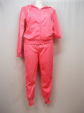 Buy Women 2PC Athletic Tracksuit Sweats PLUS SIZE 1X Pink LOVE Hoodie Long Sleeve