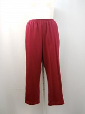 Buy Womens Sweat Pants Size 24W ALFRED DUNNER Raspberry Short Proportioned Elastic