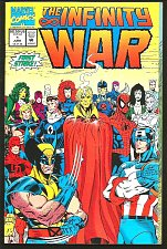 Buy INFINITY WAR #1 STARLIN Lim Milgrom Fold Out Cover GUARDIANS OF THE GALAXY 1992