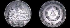 Buy 1972-A German Democratic Republic 5 Mark World Coin - East Germany - Meissen