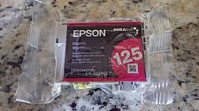 Buy Epson T1253 RED 125 genuine magenta ink printer copier Stylus NX130 NX127 NX125