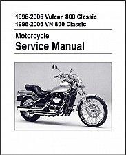 Buy 1996-2006 Kawasaki Vulcan 800 / VN800 Classic Service Manual on a CD