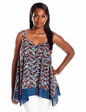 Buy Lucky Brand Women's Print L Swing Tank With Lace Trim NWT #7W62603