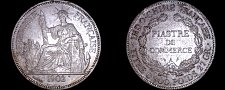 Buy 1902-A French Indo-China 1 Piastre World Silver Coin - Vietnam