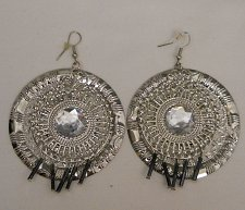 Buy Womens Earrings Fashion Drop Dangle Circles Silver Tones Rhinestones PRINCESS Ho