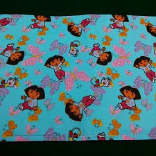 Buy Cloth placemat and Napkin set Dora print Cotton handmade child toddler