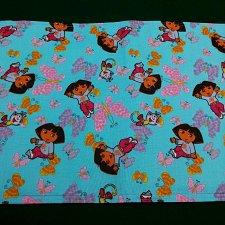 Buy Cloth placemat and Napkin set Dora print Cotton handmade child toddler