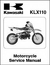 Buy 02-09 Kawasaki KLX110 Service Repair Workshop Manual CD - KLX 110