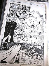 Buy Comic Art from Silver Surfer #98 Page #28 Signed JIM HALL Warlock, Drax