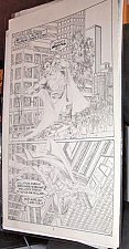 Buy SUPERMAN Page of Comic art by a Pro nicely Penciled