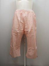Buy PLUS SIZE 20W Women Cotton Capris Striped Pink Pockets Elastic Waist BOCA BAY