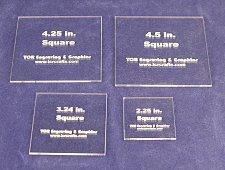 """Buy 4 Piece Square Set -Actual sizes Acrylic 1/8"""" Laser Cut Quilt Templates-"""
