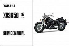 Buy 1997-2004 Yamaha V-Star 650 / DragStar 650 ( XVS650 ) Service Manual CD